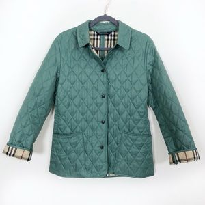 Burberry Quilted Nova Check Jacket Jade Constance